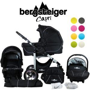 schwarzes Kinderwagen Set von Bergsteiger